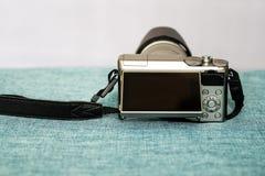 Close-upmening van digitale camera stock foto