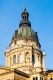 Close-upmening van koepel van St Stephen ` s Basiliek in Boedapest, Hongarije stock foto