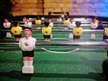 Close-upmening van lijstvoetbal stock foto