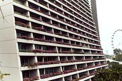 Close-upmening van Marina Bay Sands Hotel royalty-vrije stock afbeeldingen