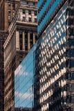Close-upmening van oude en moderne wolkenkrabbers in de Stad van Murray Hill Midtown Manhattan New York stock fotografie