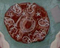 Close-upmuur in Magische Tuinen door Isaiah Zagar, Philadelphia Royalty-vrije Stock Foto's