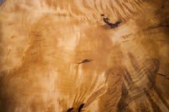 Close-upoppervlakte van houten suvel met mooi iriserend natuurlijk patroon Royalty-vrije Stock Foto