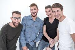close upp en grupp av lyckliga grabbar arkivbilder