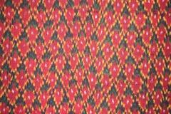 Close-uppatroon van Thaise met de hand gemaakte stof Royalty-vrije Stock Afbeelding