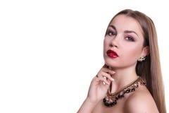 Close-upportret van een mooi meisje Royalty-vrije Stock Fotografie