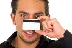 Close-upportret van knappe jonge mensenholding Stock Foto