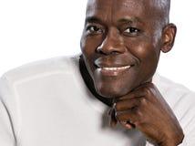 Close-upportret van mens het glimlachen Royalty-vrije Stock Fotografie