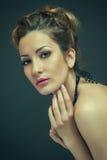 Close-upportret van mooie vrouw Royalty-vrije Stock Foto