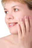 Close-ups beauty girl portrait Stock Photo