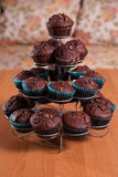 Close-ups of chocolate muffins - sweet food Stock Photography
