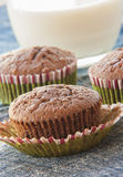 Close-ups of chocolate muffins Stock Images
