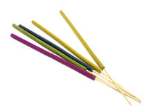 Close-ups of incense sticks Royalty Free Stock Photos