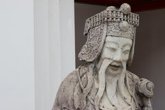 Close-ups statue the face Chinese Ship Ballast. Stock Photos
