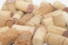 Close-ups of wine corks Stock Photo