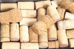 Close-ups of wine corks royalty free stock photo