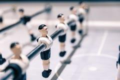 Close-upscène op lijstvoetbalsters stock afbeelding