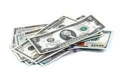Close-upschoten van honderd dollarsbankbiljet Stock Foto's