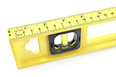 Close uu of a yellow spirit level Stock Image