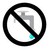 Close valve icon. Prohibition leak water and stop water in pipe. Vector illustration Royalty Free Stock Photos