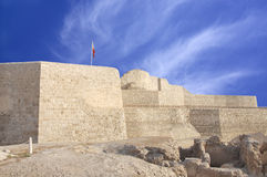 Close veiw of the southern side of Bahrain fort Royalty Free Stock Photography