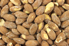 Close view of almonds Stock Images