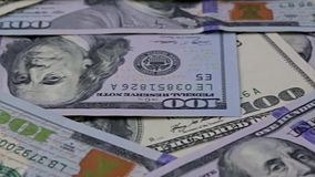 Close view of American currency stock video footage