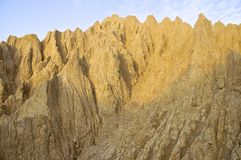 The close view of badland formations. In southern Taiwan Royalty Free Stock Photos