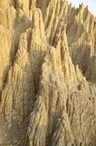 The close view of badland formations. In southern Taiwan Stock Photography