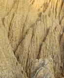 The close view of badland formations. In southern Taiwan Stock Images