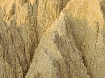 The close view of badland formations. In southern Taiwan Royalty Free Stock Images
