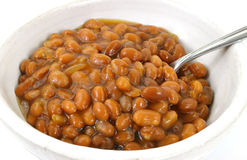 Close view of baked beans Stock Photo