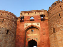 Close view of Bara Darwaza, Big gate of Purana Qila, New Delhi, Stock Images