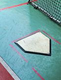 The close view of batting cage Royalty Free Stock Photo