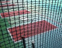 The close view of batting cage. For practicing baseball Royalty Free Stock Photos