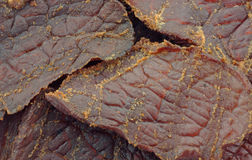 Close view of beef jerky Royalty Free Stock Image