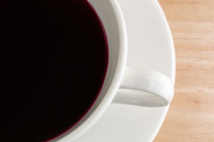 Close view of beet juice in a coffee mug Stock Photos