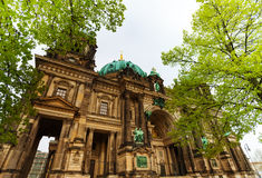 Close view of Berlin Cathedral Church Royalty Free Stock Photo
