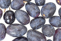 Close view of black grapes Stock Photos