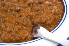Close view black lentil curry Royalty Free Stock Photography