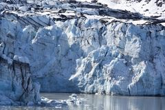 Alaska`s Blue Glacier Close View Royalty Free Stock Images