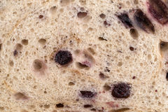 Close view of blueberry bread Royalty Free Stock Photography