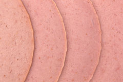 Close view of bologna slices Stock Image