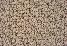 Close view of braided carpeting. A very close view of tan braided carpeting Royalty Free Stock Image