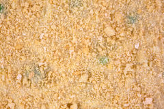 Close view breadcrumbs atop frozen TV dinner Stock Images
