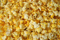 Close view of buttered popcorn Royalty Free Stock Images