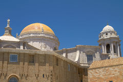 Close View of Cadiz Cathedral Domes, Spain Stock Image