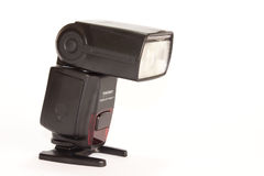 Close view of camera flash on the white background Stock Photography