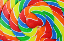 Close view of a carnival lollipop Stock Image