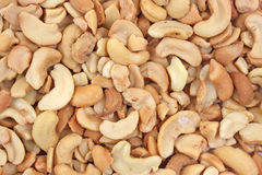 Close view of cashews royalty free stock photography